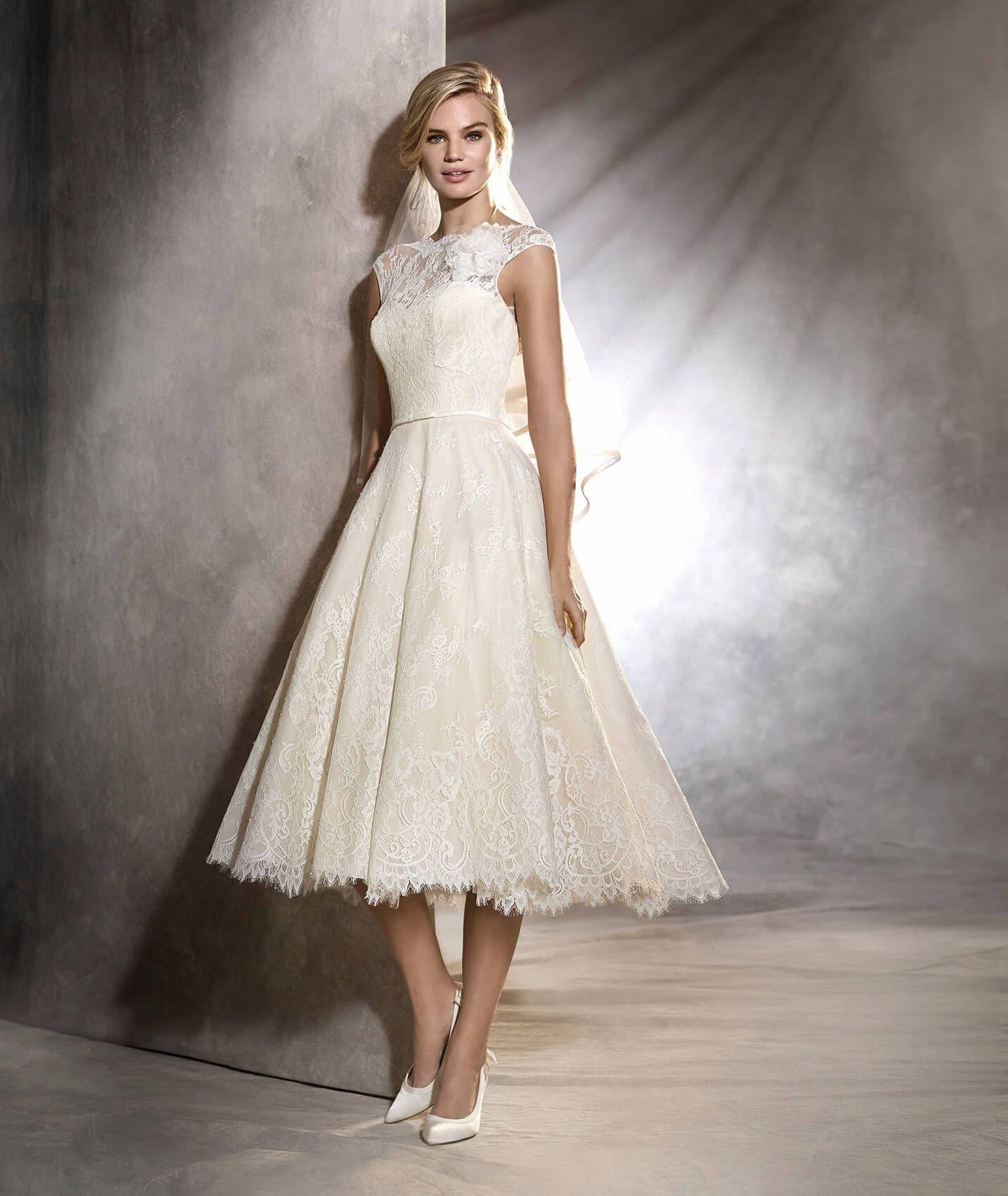 501bcb1c90 OLGA - Vestido de novia de encaje estilo vintage