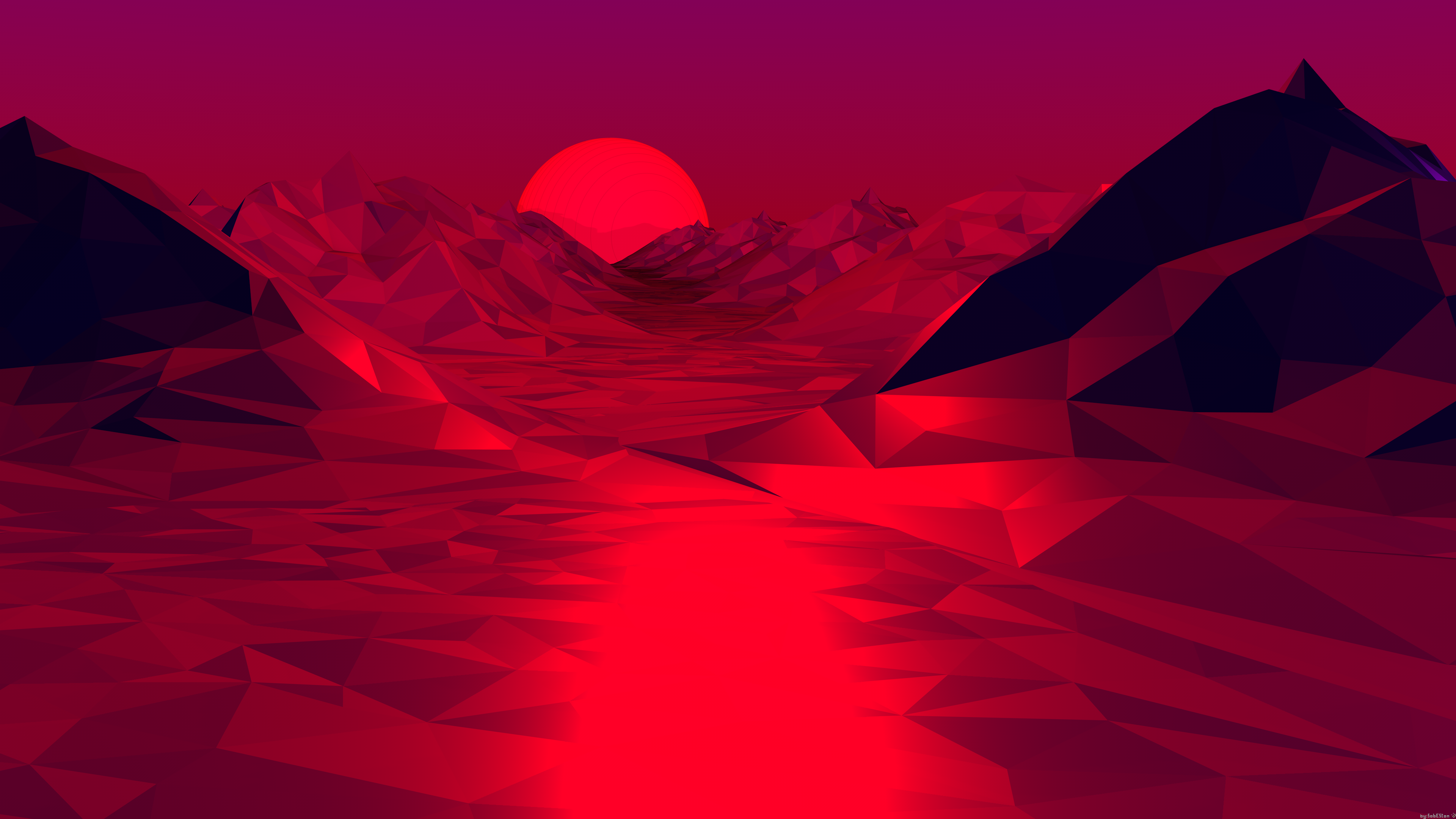 Abstract Vaporwave Style Landscape Oc 3840x2160 4k Uhd Vaporwave Wallpaper Aesthetic Desktop Wallpaper Red Aesthetic