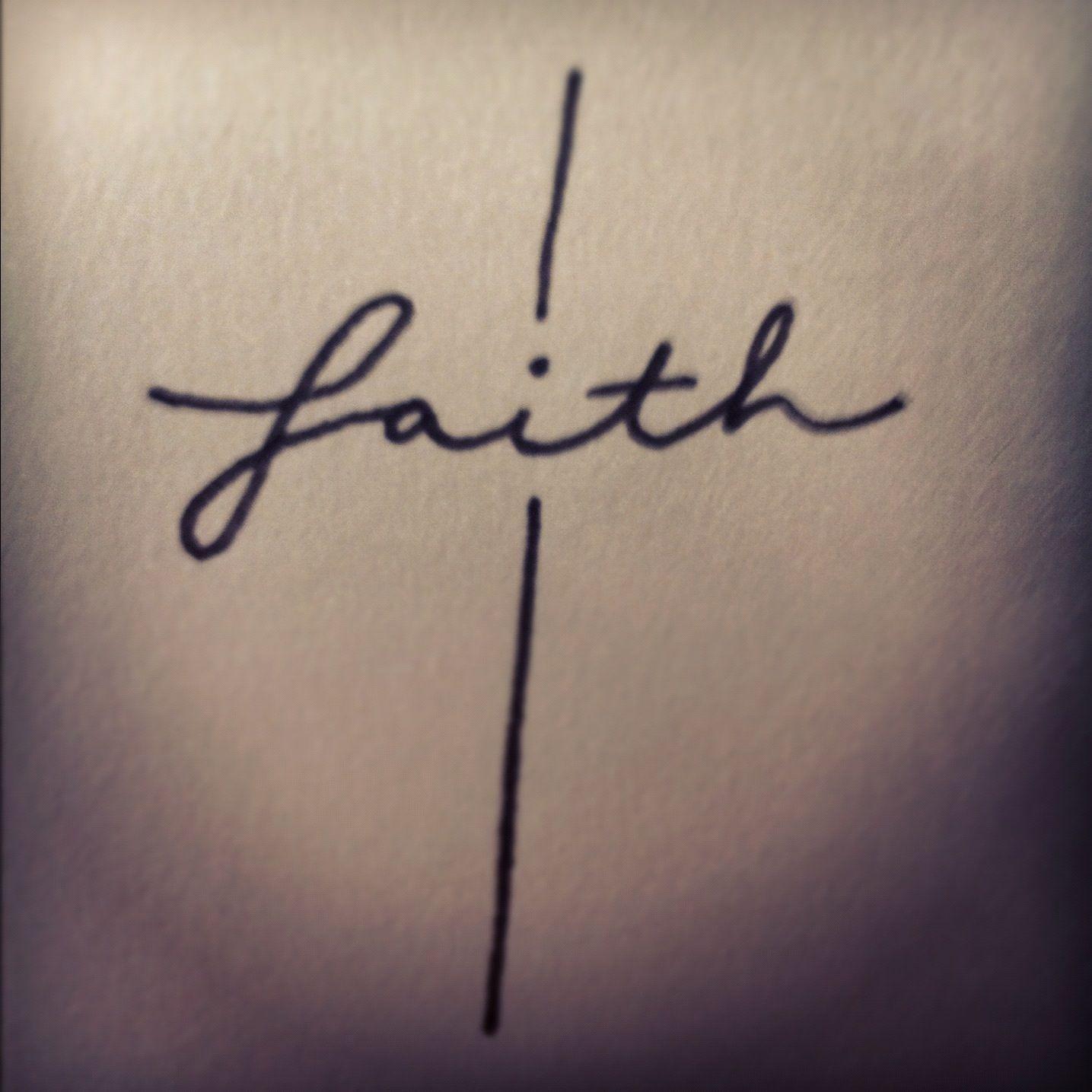 faith cross design by erica castilaw pen on paper