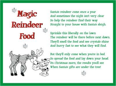 photograph relating to Reindeer Food Poem Printable identified as Lovable absolutely free printable reindeer food stuff poem towards create magic