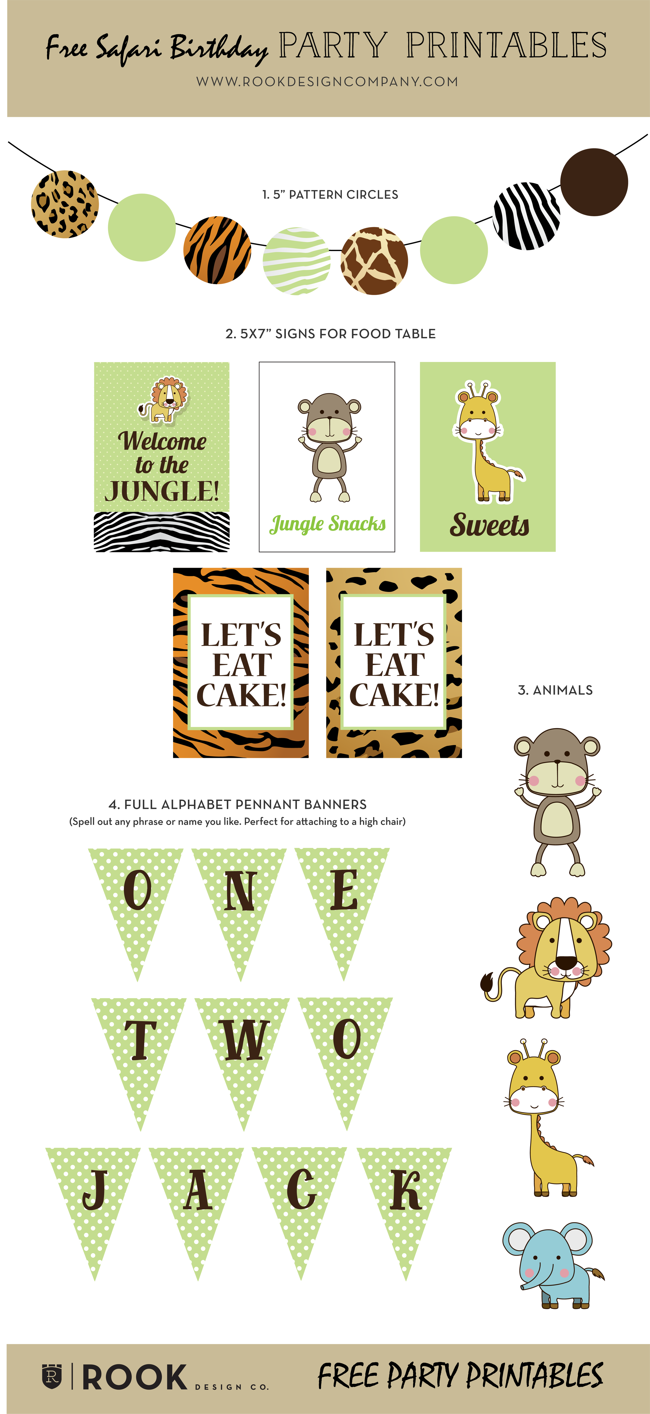 Friday Freebie Safari Theme Party Free Printables Rook Design Co Safari Theme Party Safari Birthday Safari Birthday Party Decorations