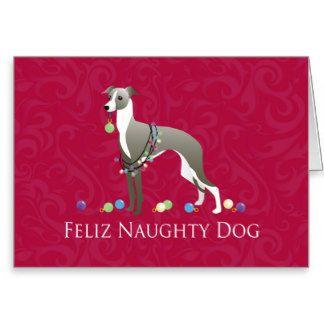 Italian Greyhound Christmas Design Greeting Card Italian Greyhound Greyhound Gift Greyhound