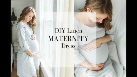 Umstandskleid DIY Wie erstelle ich ein Kleid – YouTube #LinenPregnancyDresses #Pregna …   – pano-adi