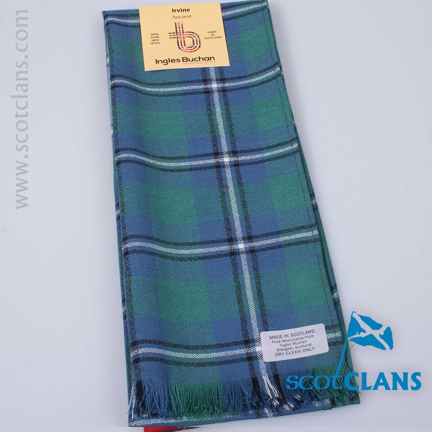 Mens Clan Tie Made in Scotland Irvine Ancient Tartan