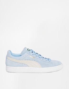 puma suede bleu pastel