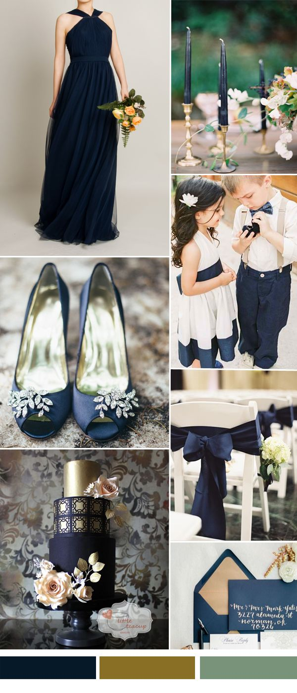 dark navy tulle bridesmaid dresses for fall wedding