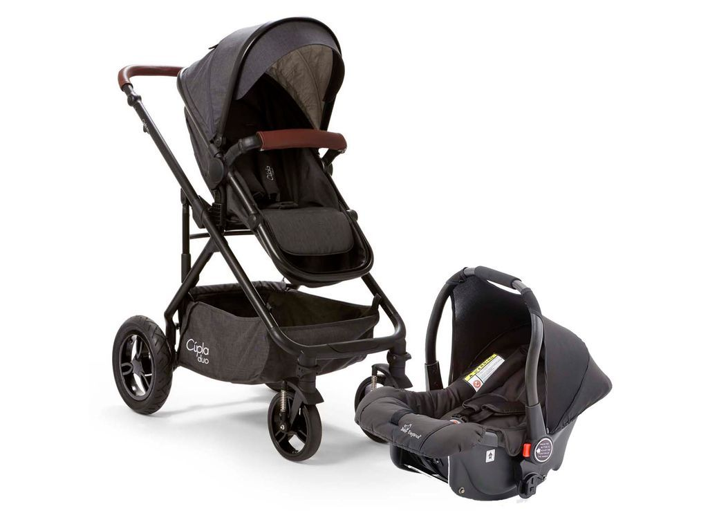 Abc Design Zoom Babymarkt Baby Elegance Cupla Duo Travel System In Charcoal Baby