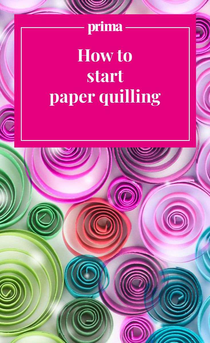 Quilling is the craft of creating designs by rolling narrow strips of paper. Learn this creative paper-rolling craft and you can create a range of imaginative projects, including wall art, greetings cards and a gorgeous personalised paper quilled picture.  Get a step-by-step guide to this paper craft at Prima.co.uk. Plus learn how to make a paper quilled card.  #paperquilling #papercrafts #paperquillingforbeginners #paperquillingdesigns #paperquilling tutorial