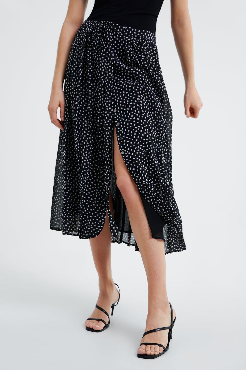 Jupe plissée à pois en 2020 | Jupe plissée, Jupe et Zara