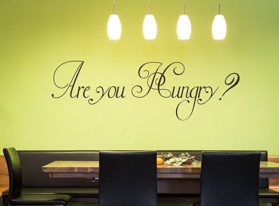 Are You Hungry? Wall Decal - Kitchen Decals - Kitchen Wall ...