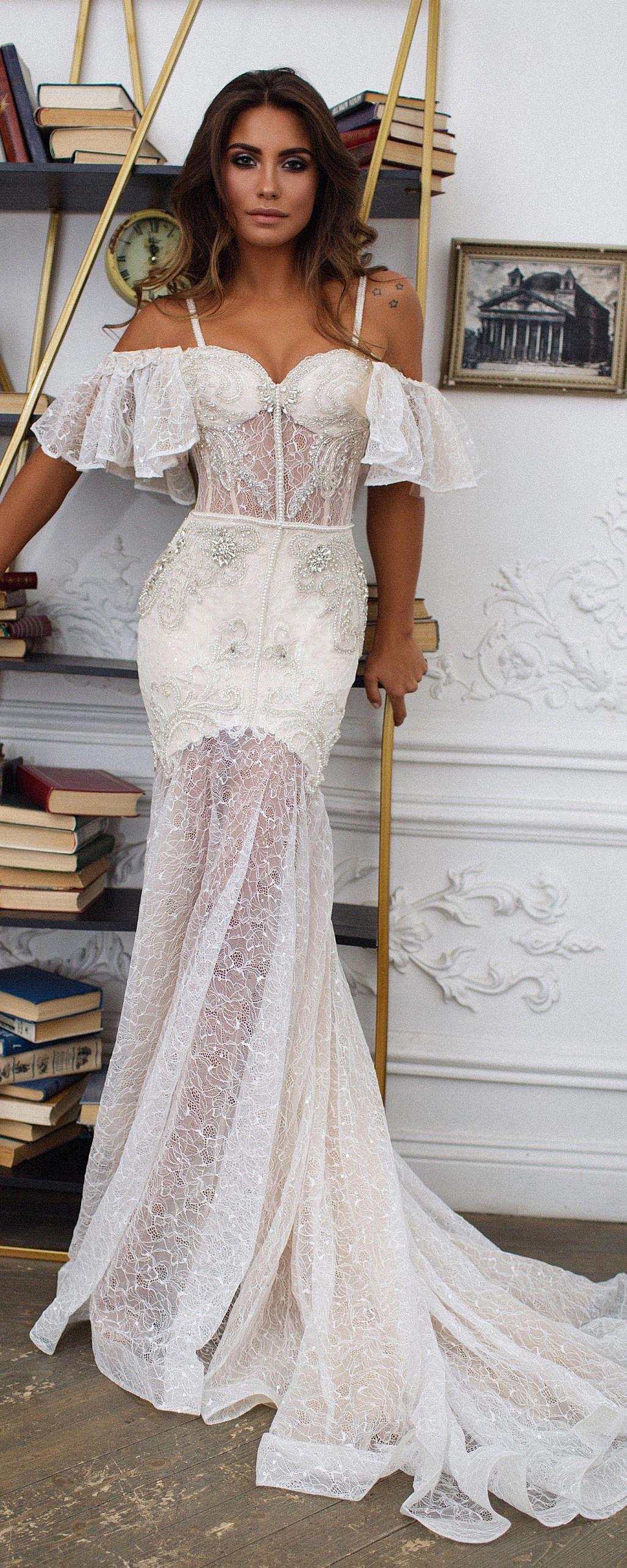 Bohemian wedding dress mermaid wedding dress seville off the