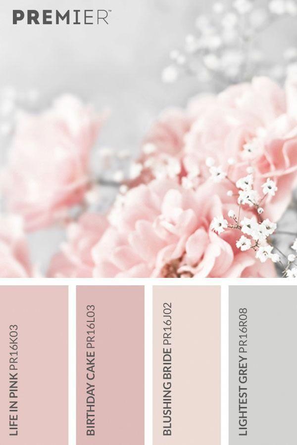 Beautiful Blossom Colour Palette Paintwithpremier Life In Pink Pr16k03 Birthday Cake Pr Paletas De Color Rosa Colores De Cuartos Paletas De Colores Pastel