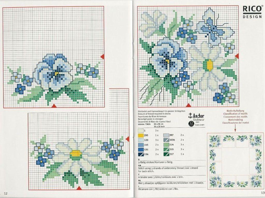 Solo Patrones Punto Cruz | Flores | Pinterest | Cross stitch flowers ...