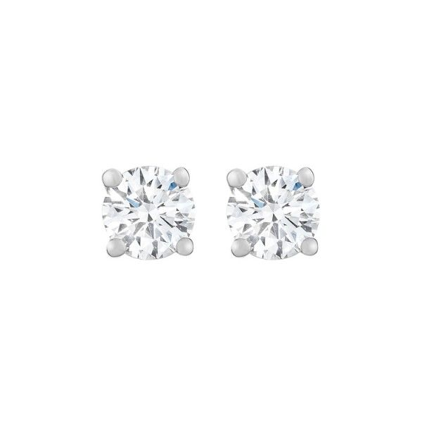 Gemesis Simple Stud Lab Created Diamond Earrings From Co