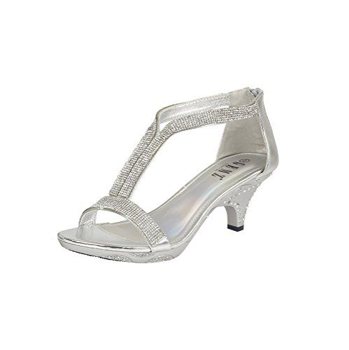 6c8a81954fc New Womens Mid Heel Diamante Evening Prom Party Wedding Sandals Ladies Shoes  Size  Amazon.co.uk  Shoes   Bags