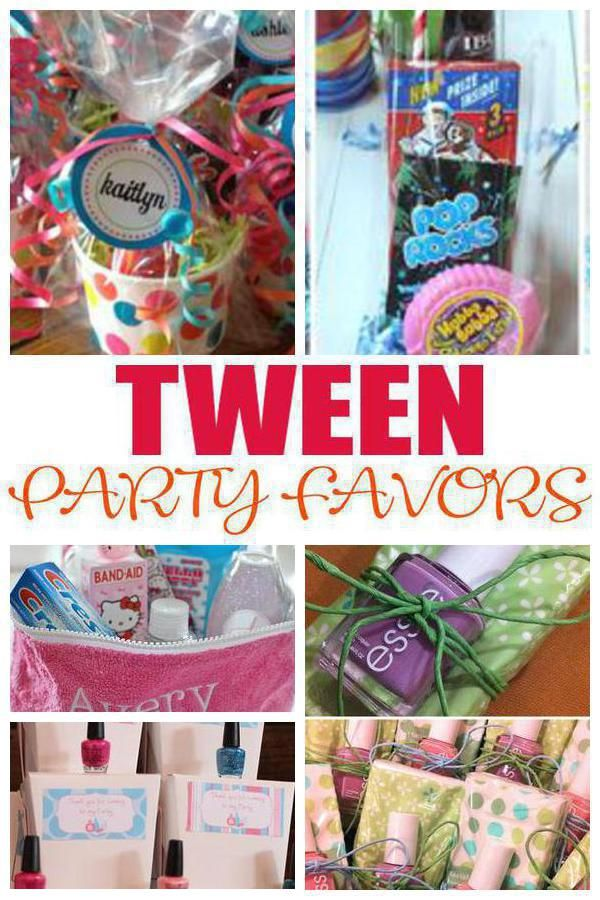 Tween Party Favors Birthday Party Pinterest Party Party