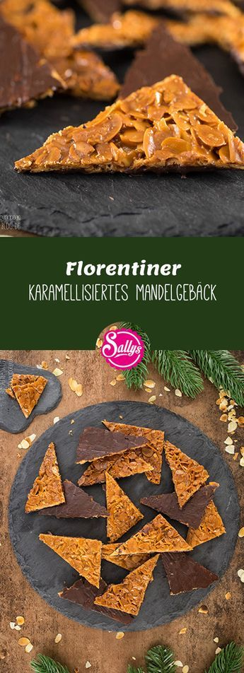 Photo of Florentine / caramelized almond biscuits with dark chocolate coating / gluten-free