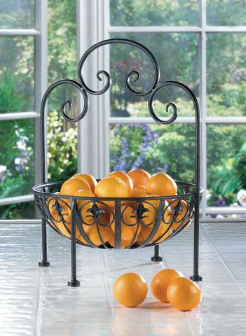 Beautiful Fleur De Lis Standing Fruit Bowl #LG Limitless Design #Contest