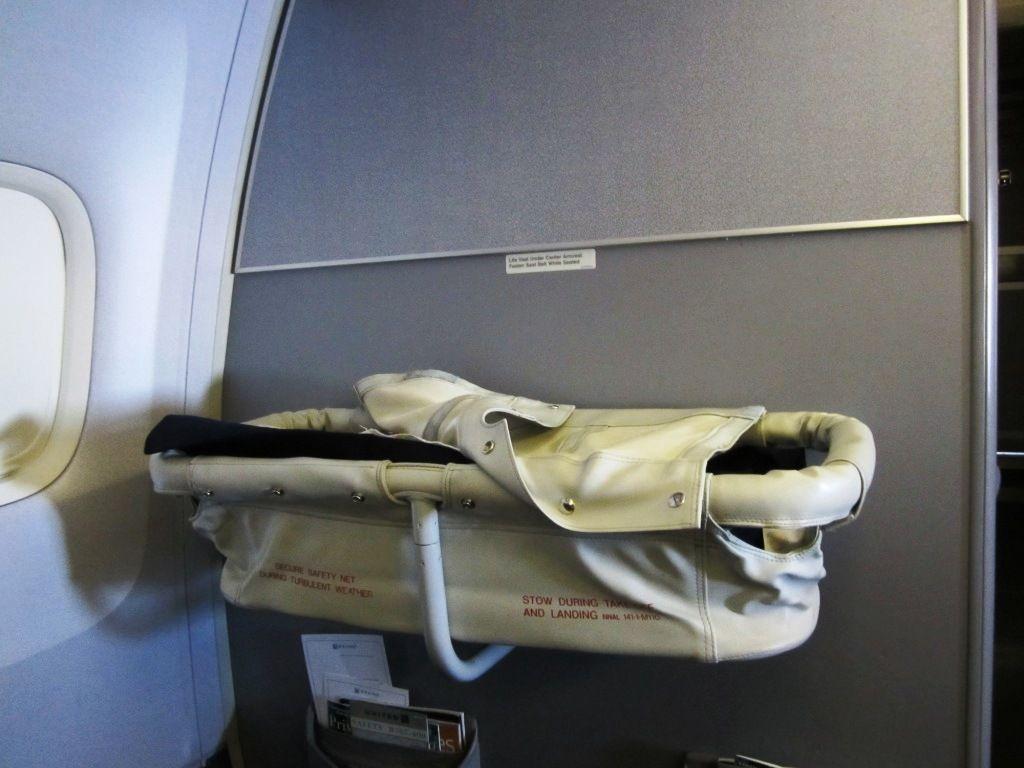 United Airlines bassinet B767 | International Travel