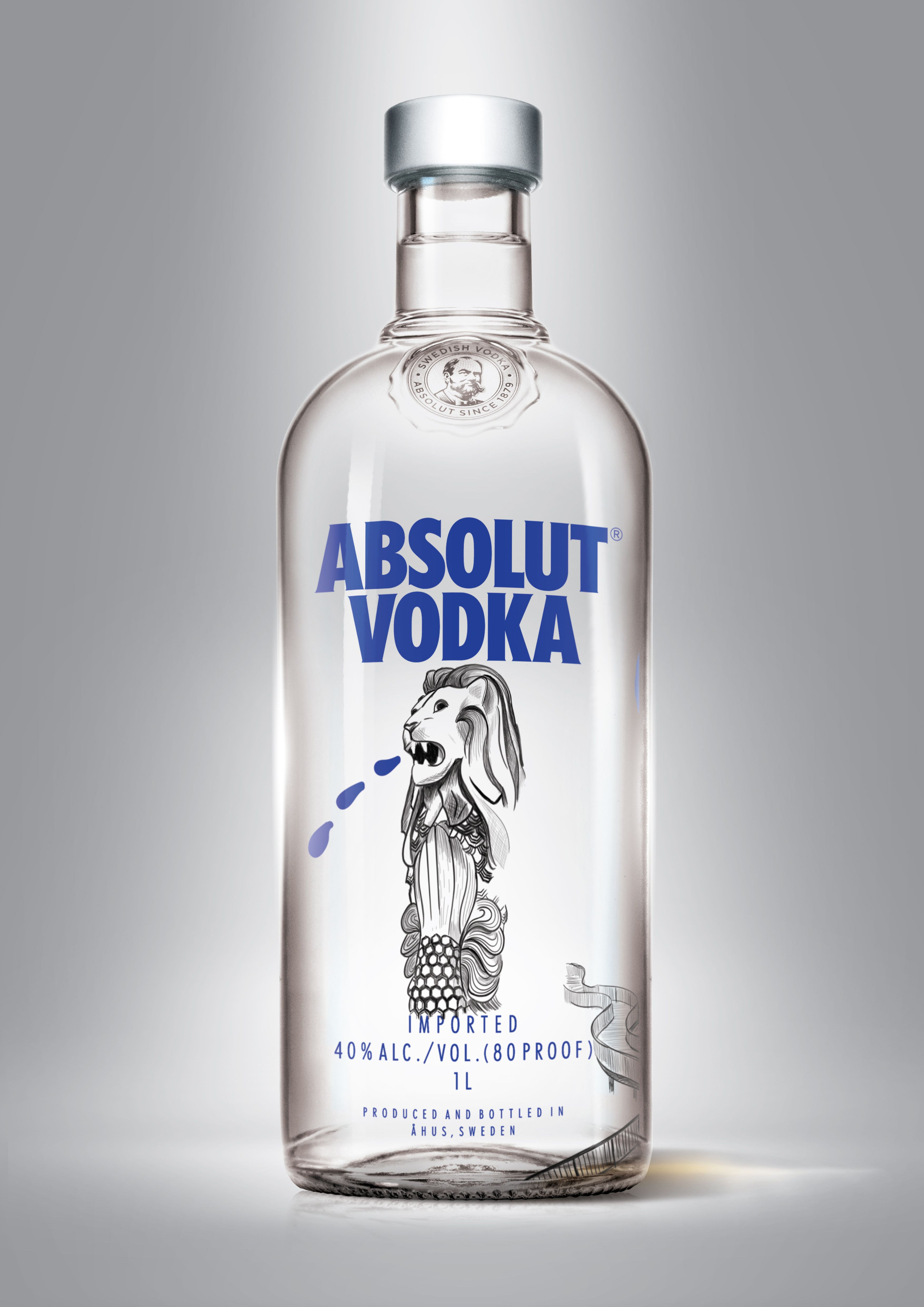"""Fonkelnieuw Check out my @Behance project: """"Singapore edition Absolut vodka VY-64"""