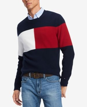 60ad335e224 Tommy Hilfiger Men s Clayton Colorblocked Sweater