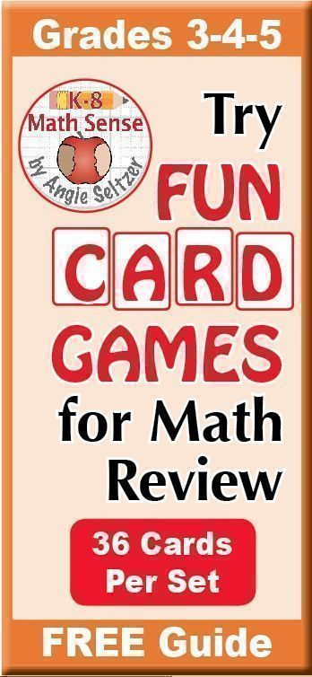 Fun Math Games Are Great For Review And Remediation English And