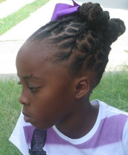 Little Girl With Styled Locs Hair In 2019 Natural Hair Styles