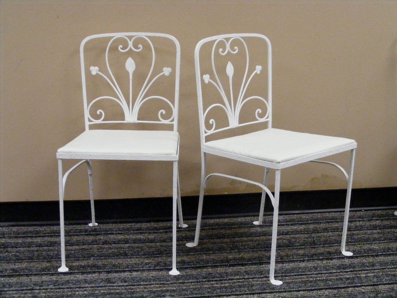 Wrought Iron Garden Chairs Vintage Patio Furniture