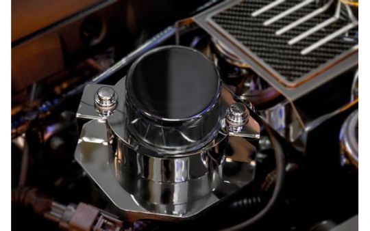 C Corvette Polished Stainless Vacuum Pump Actuator Cover C - Overhaul car show