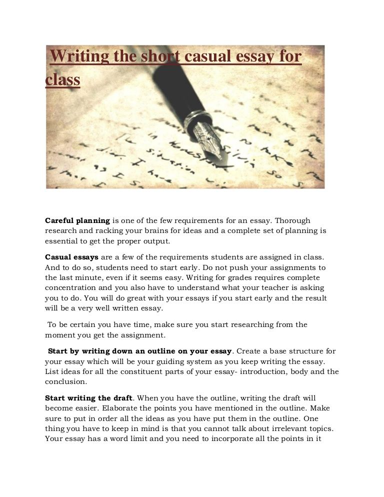 Learn The Rules Of Writing A Causal Essay For Class Outline Draft
