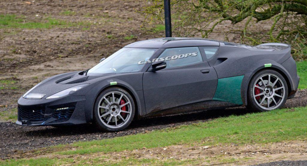 2021 Lotus Esprit Mule Spotted Hiding Under An Evora