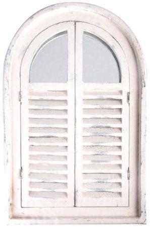 Amazon.com: Esschert Design White Window Frame w/French Doors: Patio ...