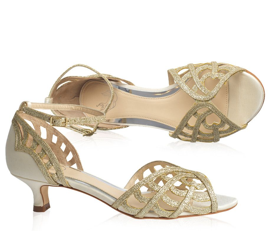 Karis Cream And Gold Caged Wedding Shoes Love Art Wear