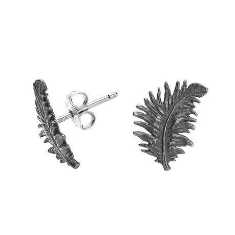 Dower /& Hall Feather Stud Earrings
