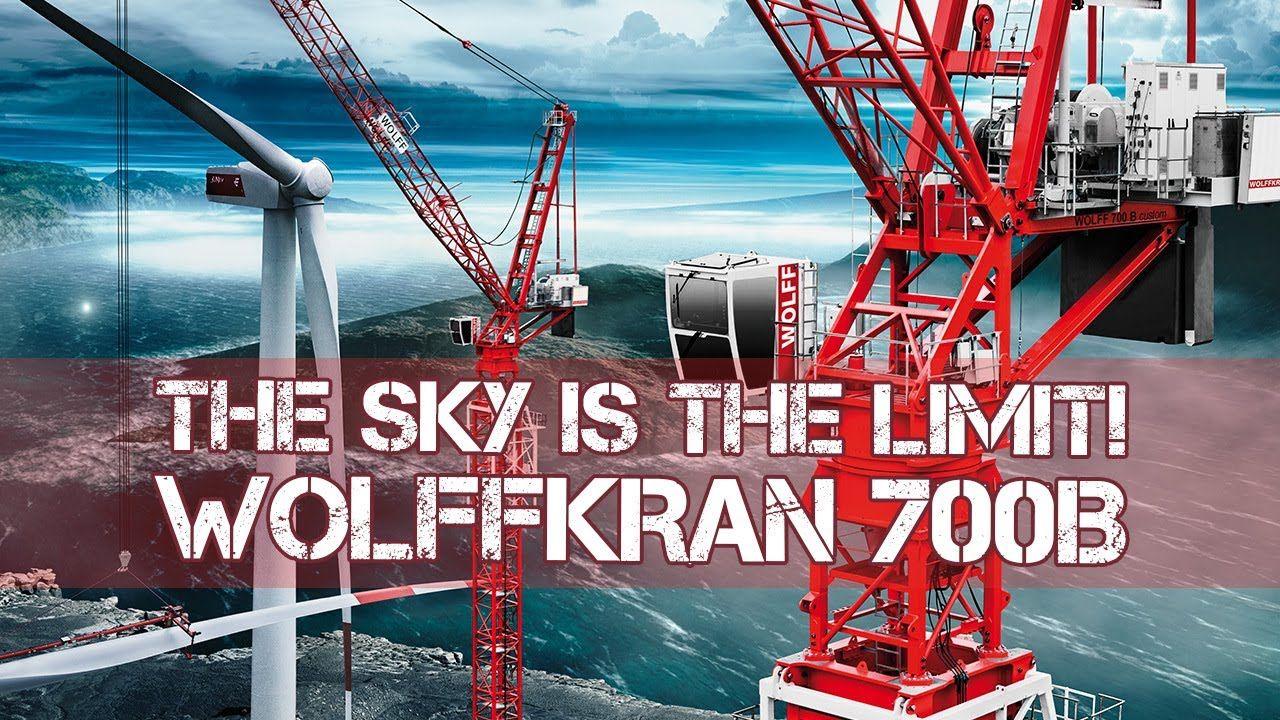 WOLFF 700B Towercrane installing 150m Wind Turbine - Wolffkran Bauforum2...