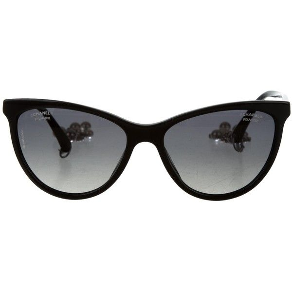 Pre Owned Chanel Cat Eye Pearl Sunglasses 745 Liked On Polyvore Featuring Accessories Eyewear Sunglasses Chanel Glasses Chanel Eyewear Cat Eye Sunnies