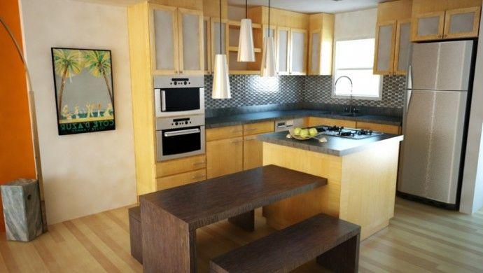 Kücheninsel Klein ~ Wohnideen küche kleine küche kücheninsel essbereich interior