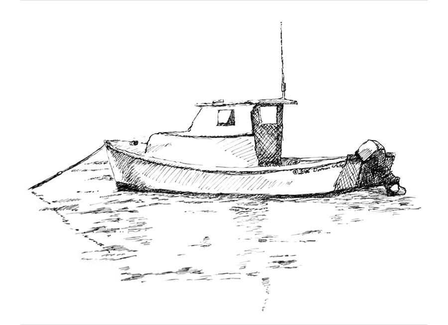 View Source Image Lobster Boat Boat Sketch Boat Drawing
