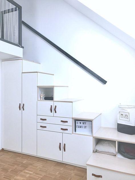 stufenschrank hochbett pinterest jungenzimmer schreiner und stauraum. Black Bedroom Furniture Sets. Home Design Ideas