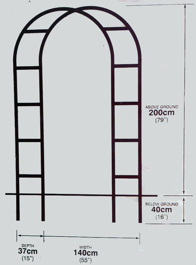 Arco sencillo 2x1 4m taller pinterest arco jard n y - Arcos decorativos para puertas ...