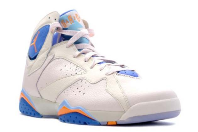 6d863e2e73c5 Air Jordan 7 VII Retro Pearl White Bright Ceramic Pacific Blue  99 very  meticulous