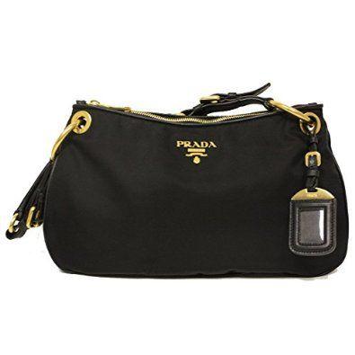18b23b56f2b7f Prada BR4894 Nero Black Tessuto Soft Calf Leather and Nylon Shoulder ...