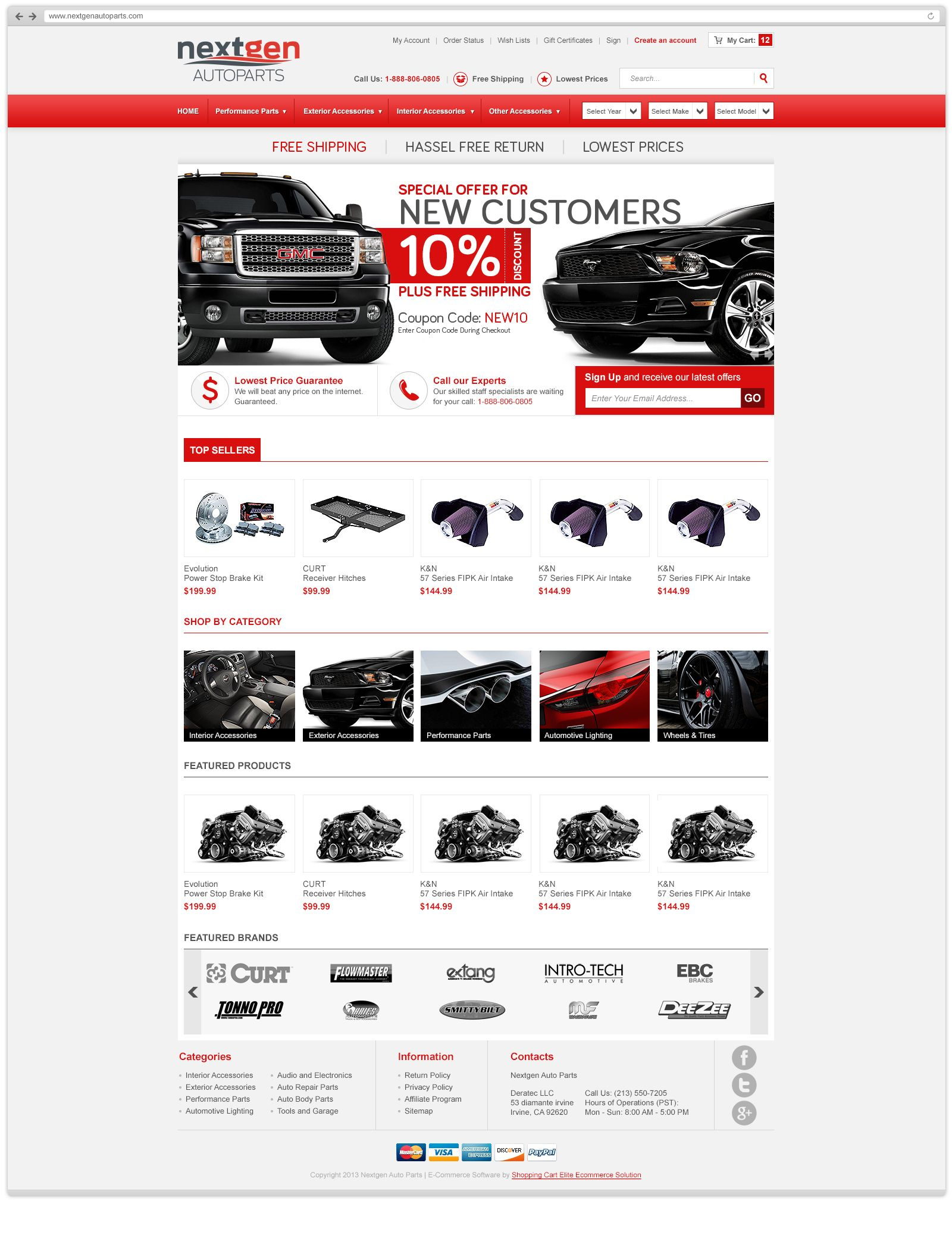 Overview Shopping Auto Site Shopping Cart