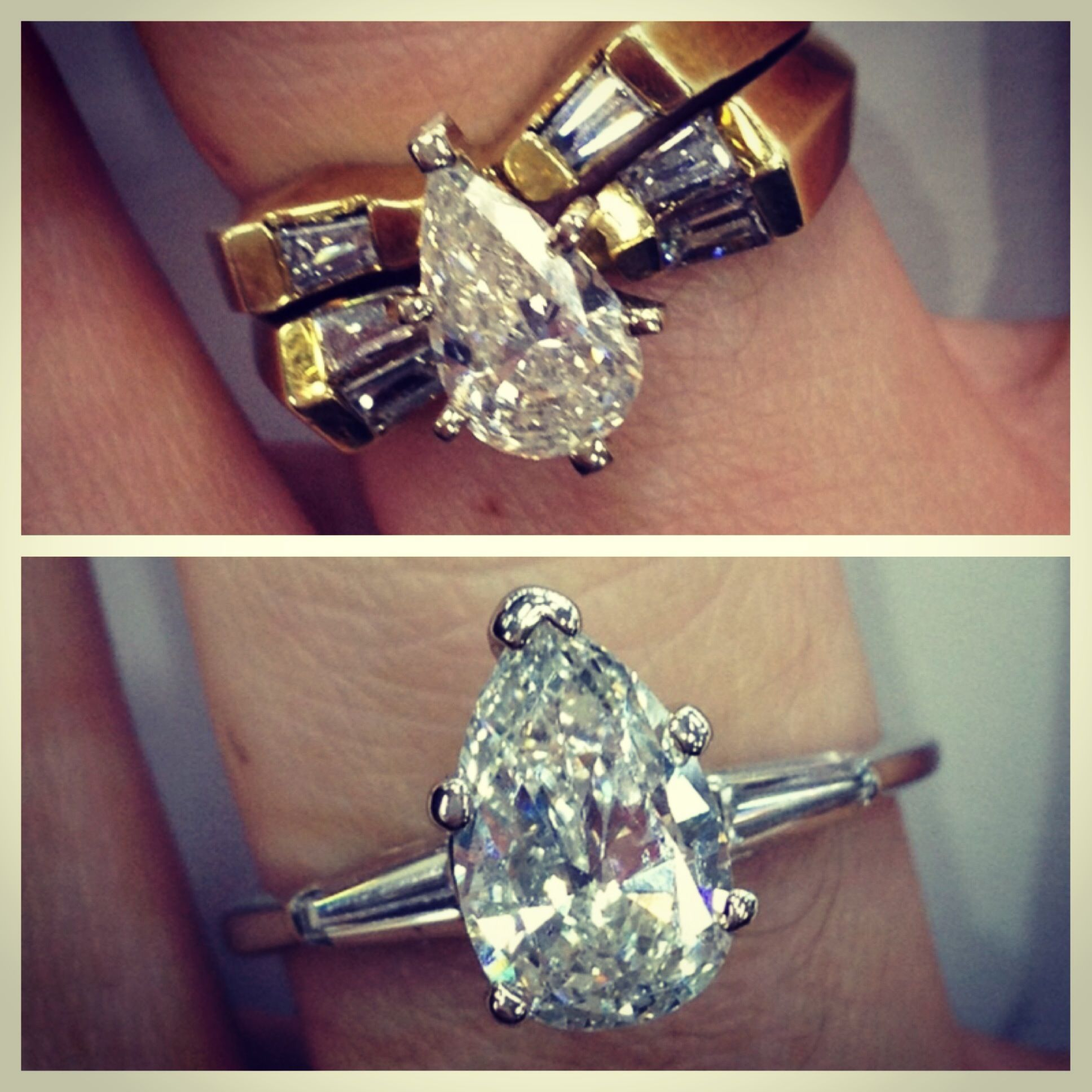 Before & After Upgrade your outdated ring for a newer modern look