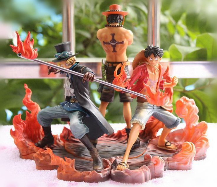One Piece Ace, Luffy & Sabo PVC Figurine