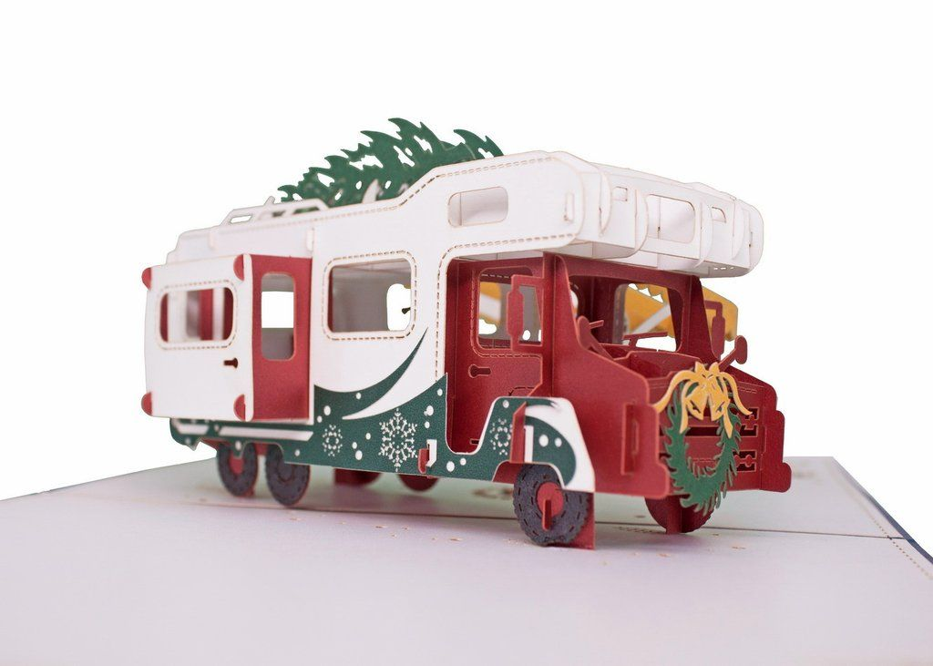 RV (Christmas) pop up card | Rv, 3d and Cuttings