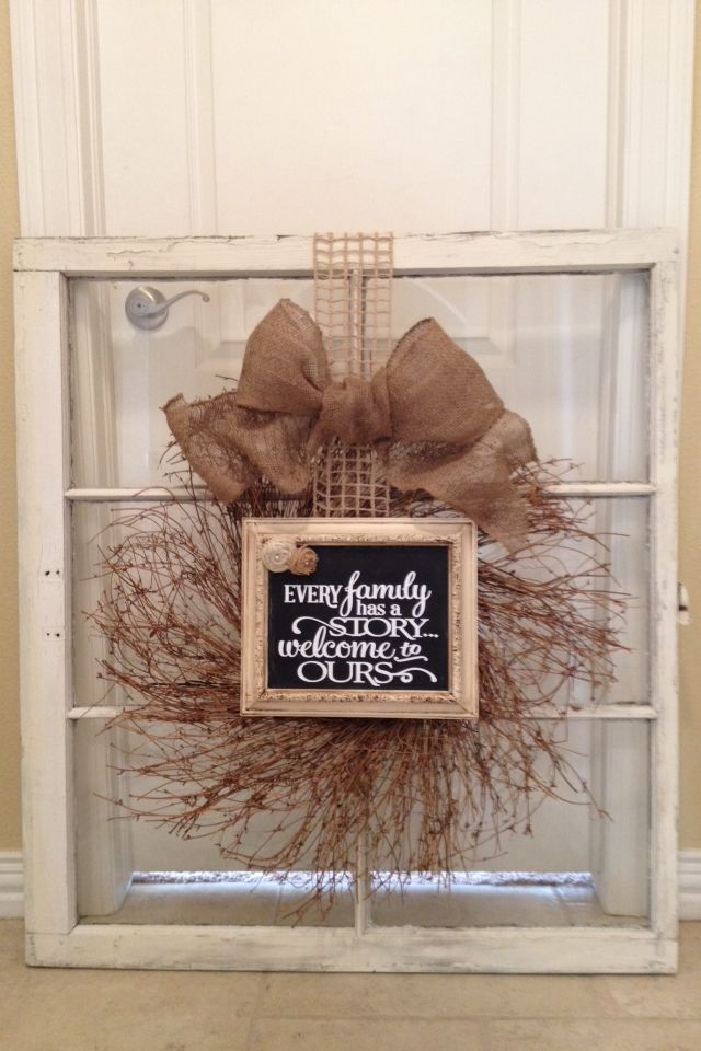 window pane craft ideas wreath amp frame on window things by me aka quot refunk 5719