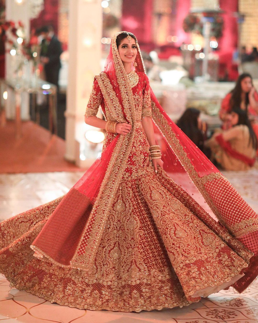 The Prettiest Faraz Manan Outfits We Spotted On Real Brides In 2021 Bridal Lehenga Red Indian Bridal Outfits Bridal Lehenga [ 1350 x 1080 Pixel ]