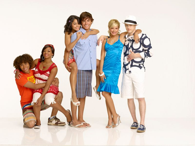 Chad, Taylor, Gabriella, Troy, Sharpay et Ryan (High School Musical 2) #highschoolmusical  #disneychannel