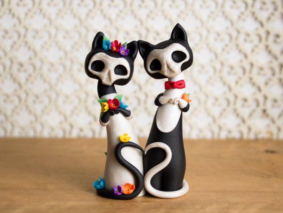 Gatitas de los Muertos  Calavera Cat Wedding by BonjourPoupette